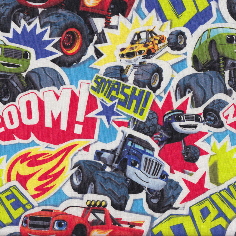 Blaze and the monster machines car interior design for Monster truck fabric
