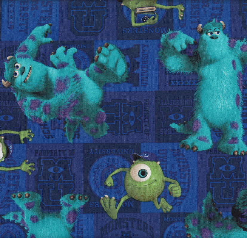 Monsters inc find a fabric for Monster themed fabric