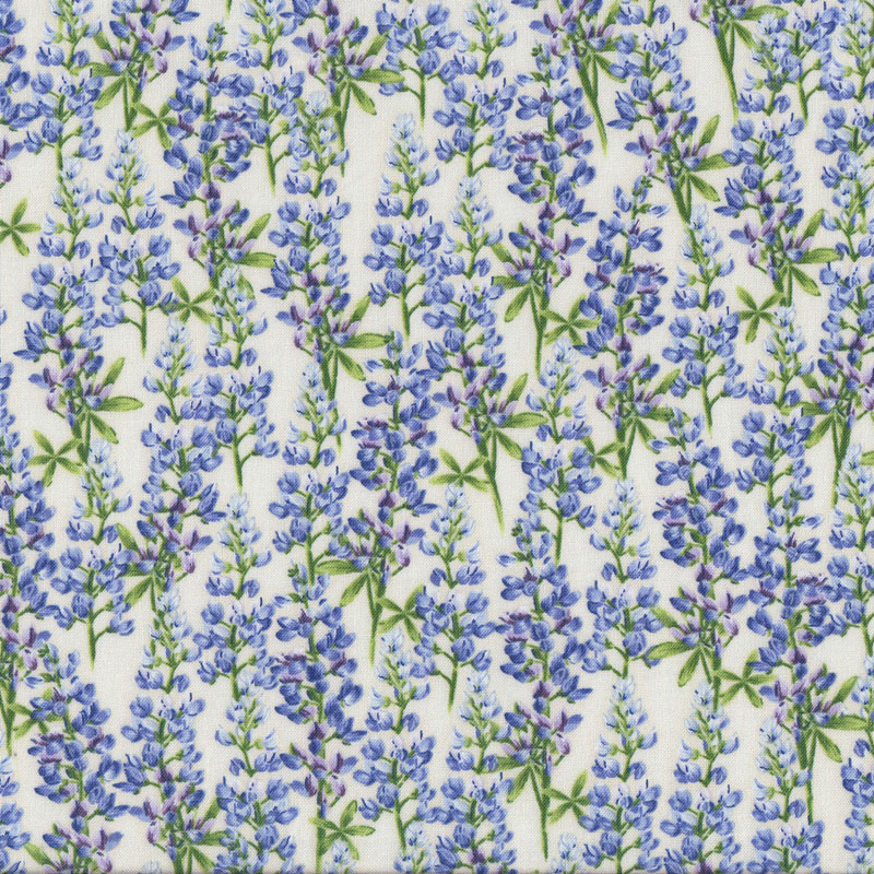 Bluebell Flowers On Cream Floral Quilt Fabric Find A Fabric