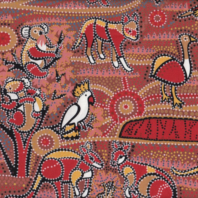 Australian Aboriginal Dreamtime Koala Dingo Emu Quilt