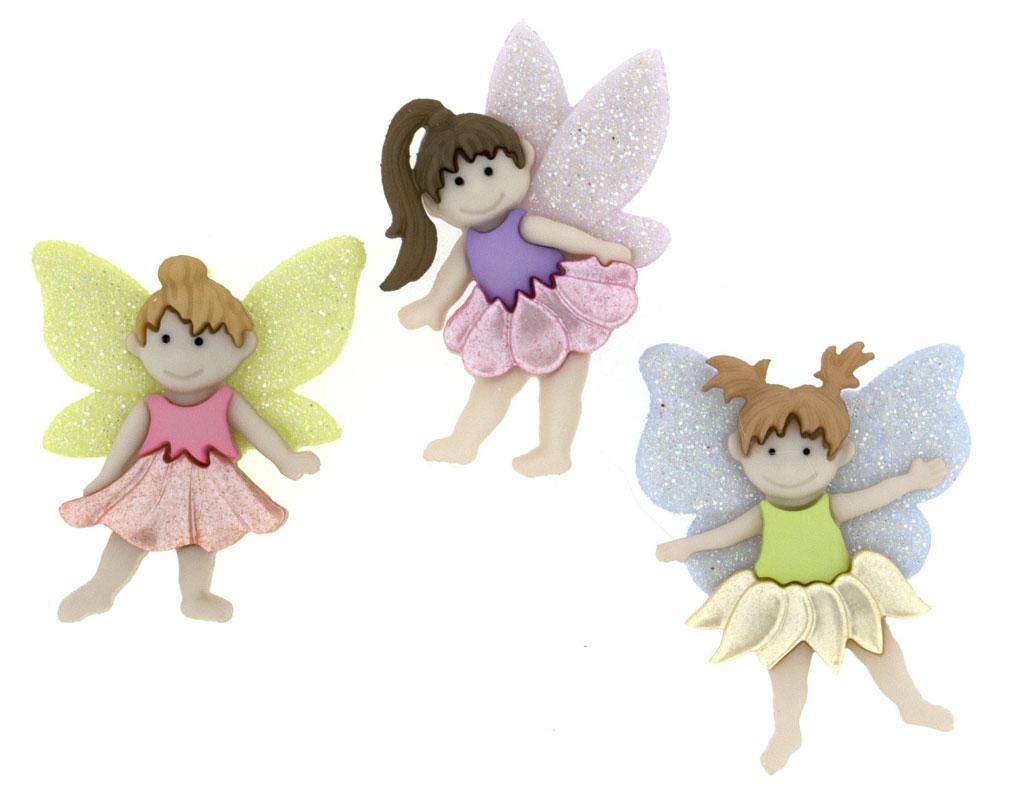 Flower Fairies Girls Novelty Fairy Shank Craft Buttons
