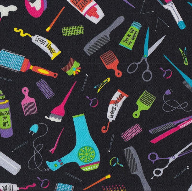 Hairdresser Hairdressing Brush Comb Hairdryer Girls Quilt