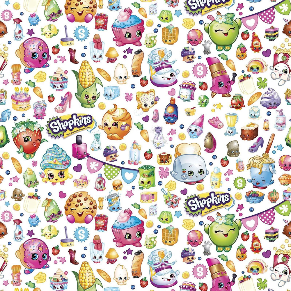 Shopkins Fun Grocery Store Shopping Girls On White