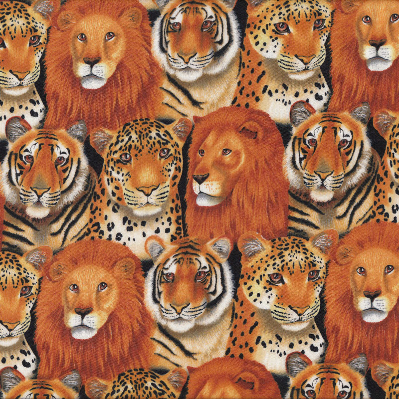African Animals Tiger Leopard Lion Quilt Fabric Find A