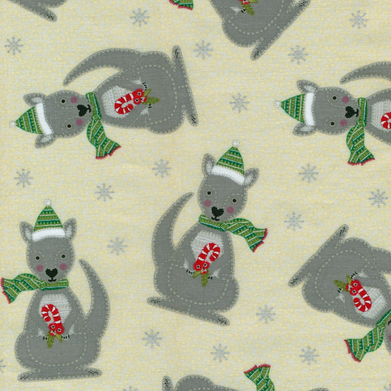Australian Christmas Kangaroos Quilt Fabric Find A Fabric
