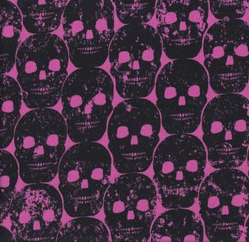 Numb Skulls Pink Quilting Fabric