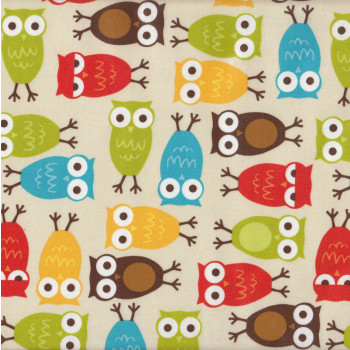 Owls Urban Zoologie Laminated Pul Waterproof Fabric - Find a