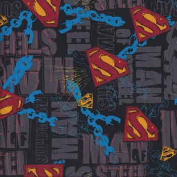Superman Steel Quilting Fabric