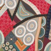 Australian Aboriginal Bindoon Dots and Circles Design Quilt Fabric