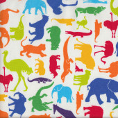 Colourful Animals Kids fabric
