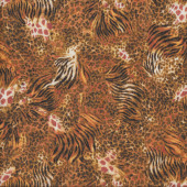African Animals Pattern Skin Quilting Fabric