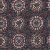 Australian Indigenous Aboriginal Alura Seed Dreaming Red by Karen Bird Quilting Fabric