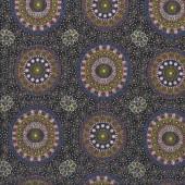 Australian Indigenous Aboriginal Alura Seed Dreaming Yellow by Karen Bird Quilting Fabric