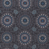 Australian Indigenous Aboriginal Alura Seed Dreaming Blue by Karen Bird Quilting Fabric