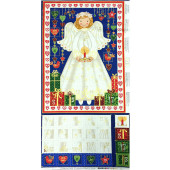 Christmas Angel Advent Calendar with Metallic Gold Quilting Fabric Panel