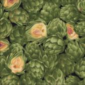 Green Artichokes Vegetable Vegies Quilting Fabric