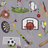 Assorted Sports Cricket Darts Hockey Soccer Golf Quilting Fabric