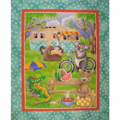 Australian Animals Kids Quilt Fabric Panel