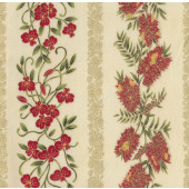 Australian Sun Banksia Grevillea Flowers on Cream Quilting Fabric