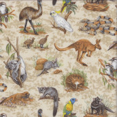 Australian Wildlife Animals Quilting Fabric