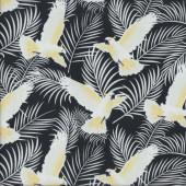 Cockatoos on Black Australiana Soaring Birds Quilting Fabric