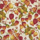 Chinese Lanterns on Beige Quilting Fabric