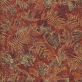 Autumn Leaves Ferns Landscape Quilting Fabric