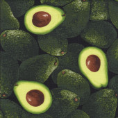 Green Avocados Quilting Fabric