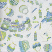 Baby Sprinkles Rattles Bibs Quilting Fabric