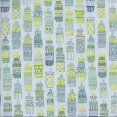 Baby Sprinkles Cute Bottles Quilting Fabric