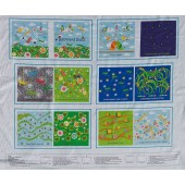Backyard Buzz Insects Bees Spiders Kids Quilting Fabric Book Panel