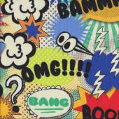 Bammm OMG Boom Zapp Bang Huh Quilting Fabric