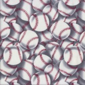 Baseball Balls Quilting Fabric
