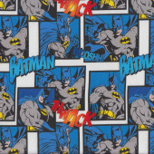 Batman Thwack Wooshh Kids Boys Licensed Quilting Fabric