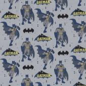 Batman on Grey DC Comics Licensed Quilting Fabric