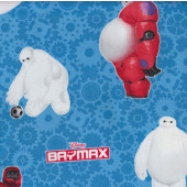 Baymax on Blue Disney Movie Marvel Superhero Licensed Fabric