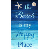 The Beach is My Happy Place Quilting Fabric Panel