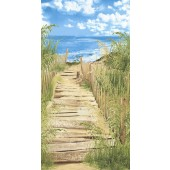Beach Path Fabric Panel