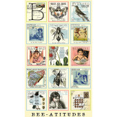 Bee Attitudes Squares Quilt Fabric Panel Quilting B's J Wecker Frisch