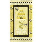 Bee Happy Quilt Fabric Panel