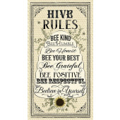 Hive Rules Bees Sunflowers Beehive Quilting Fabric Panel