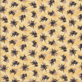 Bees on Cream You Bug Me Insect Quilting Fabric