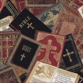Bibles Holy Bible Religion Christian Quilt Fabric