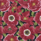 Big Beautiful Poppy Flowers Quilting Fabric