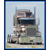 Big Rig Truck Road Boys Mens Quilting Fabric Panel