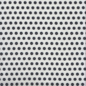 Black Buttons on White Quilting Fabric