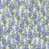 Bluebell Flowers on Cream Floral Quilt Fabric