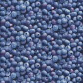 Blueberries Berries Fruit Kitchen Quilting Fabric