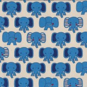 Cute Blue Elephants for Kids on White