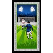 Born to Score Soccer Sports Boys Quilting Fabric Panel